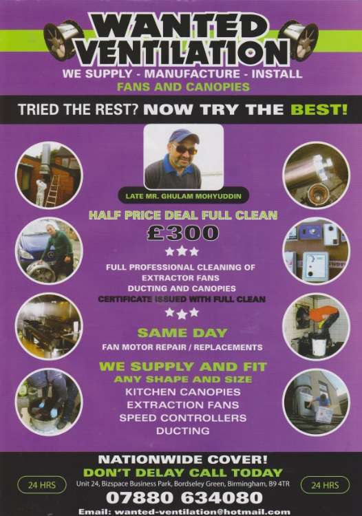 Commercial kitchen ventilation services