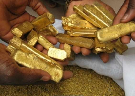 Sale of pure gold from africa