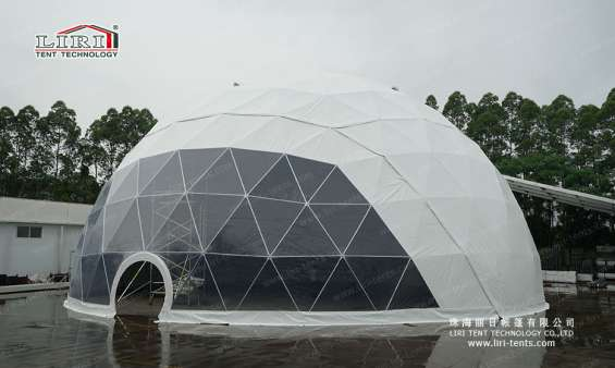 25m big half sphere tent geodesic dome marquee