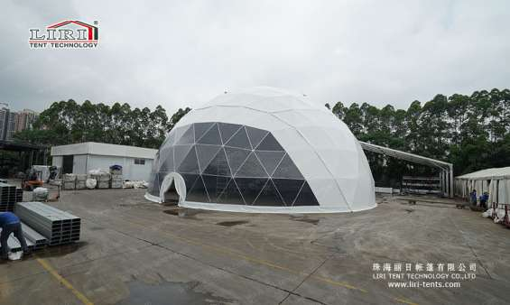 Pictures of 25m big half sphere tent geodesic dome marquee 2