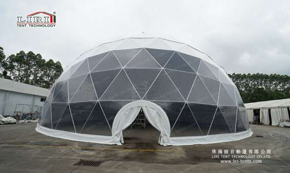 Pictures of 25m big half sphere tent geodesic dome marquee 3