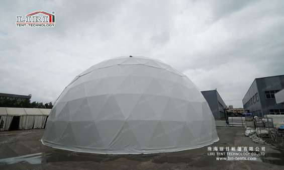 Pictures of 25m big half sphere tent geodesic dome marquee 4