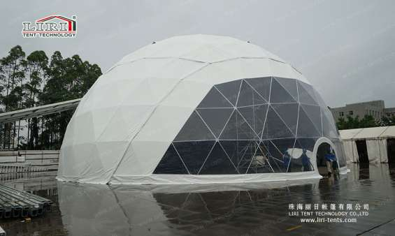 Pictures of 25m big half sphere tent geodesic dome marquee 7