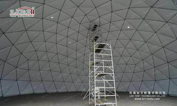 Pictures of 25m big half sphere tent geodesic dome marquee 6