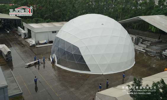 Pictures of 25m big half sphere tent geodesic dome marquee 8