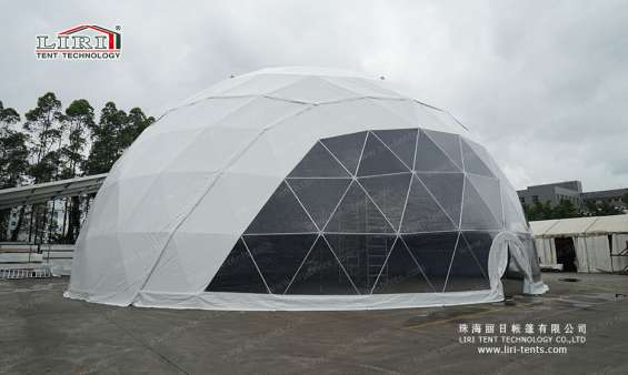 Pictures of 25m big half sphere tent geodesic dome marquee 5