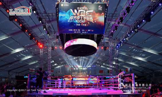 Pictures of Large transparent event tent for boxing match 5