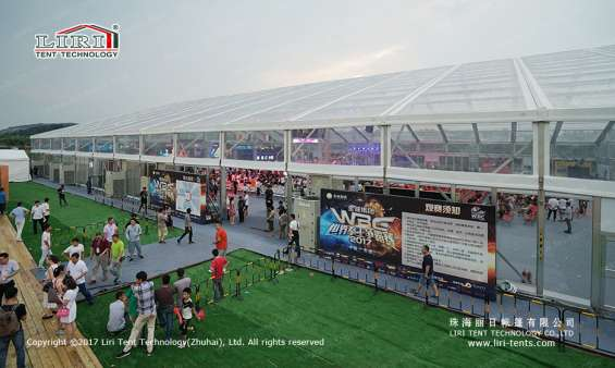 Pictures of Large transparent event tent for boxing match 8
