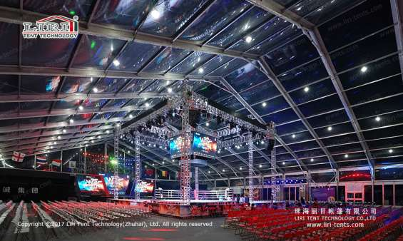 Pictures of Large transparent event tent for boxing match 3
