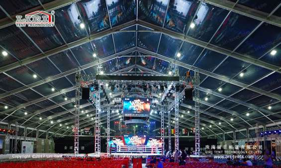 Pictures of Large transparent event tent for boxing match 2