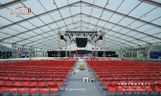 Pictures of Large transparent event tent for boxing match 9
