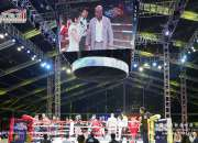 Large Transparent Event Tent for Boxing Match