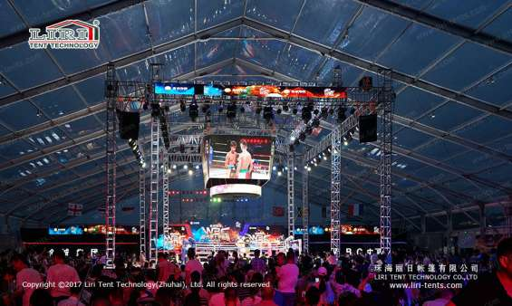 Pictures of Large transparent event tent for boxing match 7