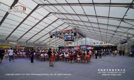 Pictures of Large transparent event tent for boxing match 4