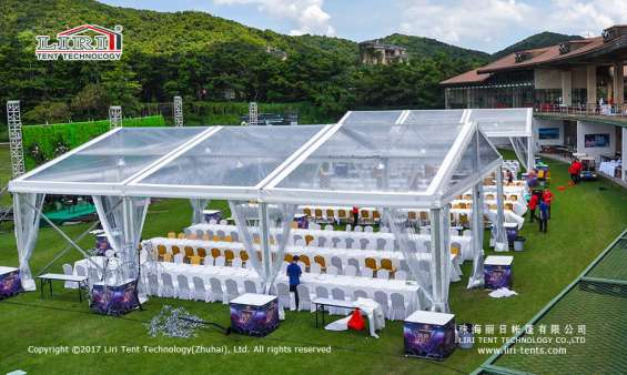 Transparent austrialia luxury wedding tent