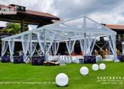 Romantic Wedding Tent with Clear Roof Cover
