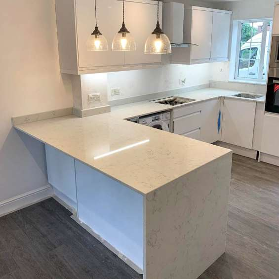 Bianco carrara quartz sale | best kitchen worktop at cheap price uk